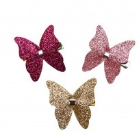 Glitter Butterfly on Beak Clip (CL0612)