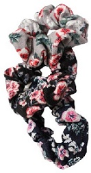 Jersey Floral Scrunchies x 3 (LH0540)
